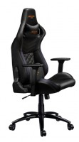CANYON CND-SGCH7 Gaming chair, PU leather, Cold molded foam, Metal Frame, Top gun mechanism, 90-160 dgree, 3D armrest, Class 4 gas lift, metal base ,60mm Nylon Castor, black and orange stitching