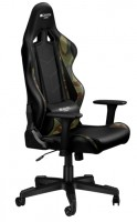 CANYON CND-SGCH4AO Gaming chair, PU leather, Original foam and Cold molded foam, Metal Frame, Top gun mechanism, 90-165 dgree, 3D armrest, Class 4 gas lift, Nylon 5 Stars Base, 60mm PU caster, Black+camouflage pattern