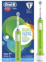 ORAL B JUNIOR SENSITIVE ULTRA THIN zelena 4210201202356 otroška električna zobna ščetka
