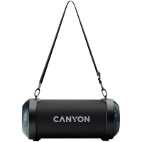 CANYON CNE-CBTSP7 Canyon BSP-7 Bluetooth Speaker, BT V5.0, Jieli JLAC6925B, 3.5mm AUX, 1*USB-A port, micro-USB port, 1500mAh lithium ion  battery, Black, cable length 0.6m, 278*117 *128mm, 0.941kg