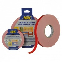 HPX Mirror Tape DS White 19mm x 25m dvostranski lepilni trak