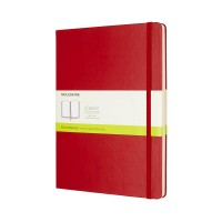 MOLESKIN M-855105 MOLESKINE NOTEBOOK XL PLAIN SCARLET RED HARD COVER